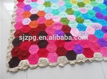 Wholesale of fashion crochet cotton blanket