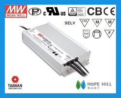 2014 newest original Meanwell 600W 24Vdc single output waterproof LED Driver