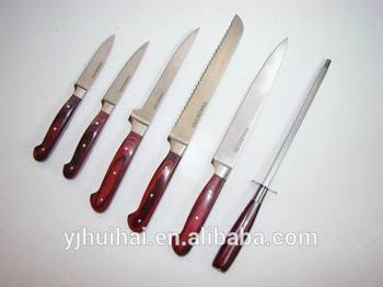 Best selling quality kitchen knife sets/pp handle kitchen knife sets