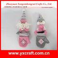 Manopla de navidad zy13f152-1-2 33cm decoración de la navidad de la cinta de malla