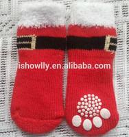 Christmas slip-resistant santa dog sock