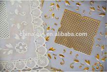 2014 new patterns printed or plain plastic fiber optic table cloth