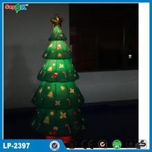 green lighting inflatable tree for Christmas