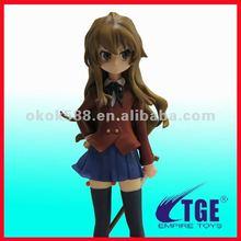 3d plastic beautiful anime girl figure toy