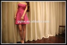 Vestido de cambray, anarkali vestido de corte, vestido corto con la cola corta