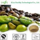 Top quality green coffee bean extract price ( chlorogenic acid 50%)