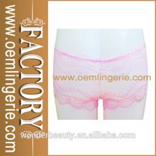 Light Pink Stretch Lace Women Boyshort WP1765 High Quanlity