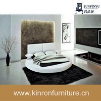 CSY-R054 Modern Design White Bedroom Round Bed