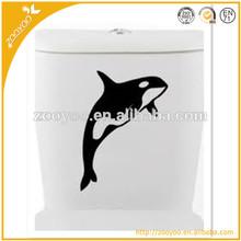 New Custom 3D Vinyl Wall decal home decor decorative Wall sticker house Wallpaper home accessories dolphin toilet sticker