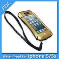orijinal aşk mei aşırı küçük bel güçlü yaşam su geçirmez dropproof metal cep telefonu kılıfı iphone 5 için 5s
