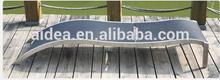stainless steel sun lounger +contemporary sun loungers