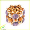 Strass et résine pierre alliage Bracelet en or couleur