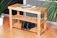 natural bamboo shoes rack bench