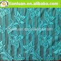hermoso diseño de la mariposa italiano tela de encaje jacquard