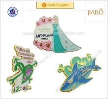 China factory direct sales South Korea country wholesale custom made enamel metal badge lapel pin
