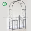 Foldable Outdoor furniture Metal Flower rose Garden Arch with Gate for plants climbing