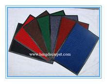 Very cheap door mat with ribbed style;anti-slip door mat;PVC mat