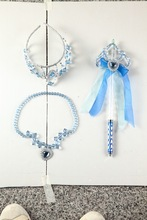 2014 Special Style Elegant Blue Pearl Headband Set For Party