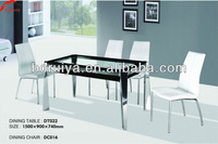 dinner sets - european style modern glass dinning table with pictures of dining room chairs