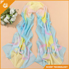 hot selling flower printed chiffon scarf