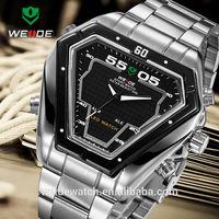 WEIDE LED quartz Business wristwatch steel double display movement Watch new arrival quartz watch advance