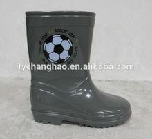 Gray kids solid color PVC shoes, cheap rain boots