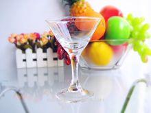Top selling lead free crystal high-stem flat-bottom cocktail martini glass 110ml/0.3oz(glass factory had passed FDA/EU/SGS)