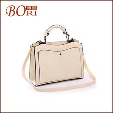 famous ladies pu leather women handbags manufacturer tote bag