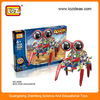 Big eyes Robot Battery Operating blocks DIY Puzzle Educational Toys for Kids