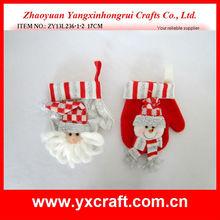 Christmas mitten ZY13L236-1-2 17CM - christmas snowmen