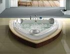 ZMB-A103 heart shaped Acrylic massage bathtub for adult