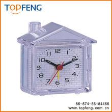 Lovely House Shaped Fluorescent Snooze Quartz Alarm Clock Home Decor Desktop Clock