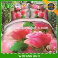 Cina immagine 3d 100% cotone 100% cotone rosso e bianco rose rosse biancheria da letto romantico set