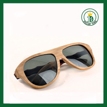 Natural Custom wood sunglasses Bamboo with polarized lenses spring hinge