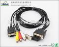 26 pino macho para vga 15 p masculino DC hoods cabo USB para o painel LCD