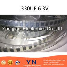 Black SMD tantalum capacitor 330UF 6.3V ( TCSCS0J337MDAR ) 6.3 wv D type