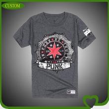 Custom round collar short sleeve printed men's t shirt