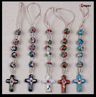 2014 New design cloisonne hand knitted rosary phone chain
