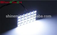 T10 BA9S Festoon 3 Adapters 24 SMD 5050 white Light 12V LED reading Panel Car interior Dome light