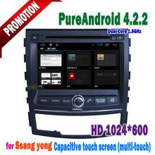 "7"" ssangyong android4.2.2 12V radio for car ,tv ,rds ,bluetooth, USB/SD/MMC Slot for korando 2010 2011 2012 2013"