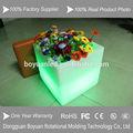 venda quente colorido de plástico quadrado vasos decorativos