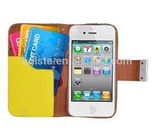Hybrid Tri Colour Design Wallet Flip Leather Case miak cases for iphone 5 5s