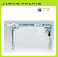 Promotion travelling time PVC Clear cosmetic pouches