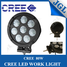Hot selling 80w cree forklift lights, cree led machinery worklights for truck 4x4