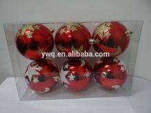 red printable christmas ornament 6cm printing christmas ball