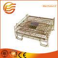 Plegable de malla de alambre de contenedores/de almacenamiento apilable cage/cesta de metal