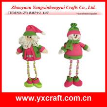 Christmas decoration ZY11S187-1-2 13.5'' santa claus shoes