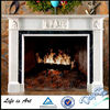 Indoor Simple Colorful Stone Fireplace Mantel,Hand-Rubbed Flower Fireplace Frame