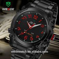 WEIDE original luxury watches Military watch manual Dual Time Analog Digital Date Alarm Wrist mens quartz watches japan movt