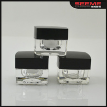5g small plastic jar sample cosmetic mini 5ml sample container ,square jar 3g 5g 15g 30g 50g
